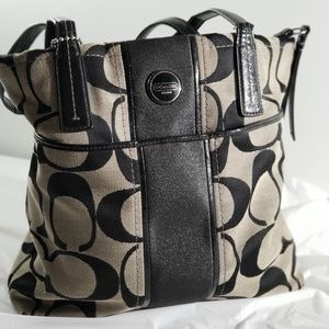 Coach Stripe Shoulder Bag